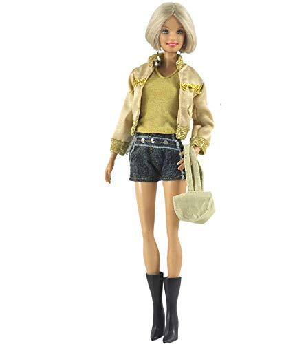 Aeromdale Conjunto de ropa de muñeca de 11 pulgadas, pantalones cortos, falda, bolso de mano, para muñecas de 28 a 30 cm, accesorio de juguete solo disfraz de muñeca – pantalones cortos – 1 juego