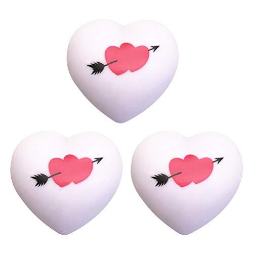 3 PCS Romântico Colorido Coração Forma LED Luz Amor Coração Flecha Padrão Lâmpada Luz Noturna Decoração De Casamento Amantes Casal Presentes
