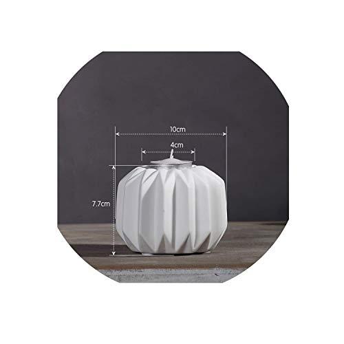Carl Hamilton Moderne Minimalistische Kreative Keramik Origami Kerzenhalter Weiß Kerzenhalter Cafe Home Wohnzimmer Hochzeitsdekoration 01