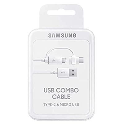 Samsung Original Combo Charge and Sync USB-C/Micro USB Cable - White