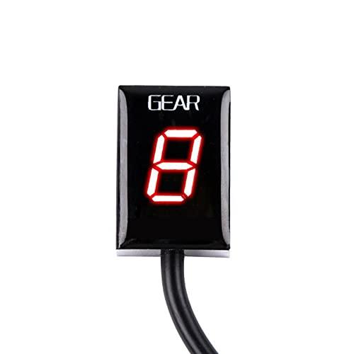 Motorcycle 6 Speed Gear Meter LED Indicador de Pantalla 1-6 Nivel Indicador de Engranaje para Yamaha FZ1 FZ6 FZ6R FZ8 FZ R 6R FZ400 400 (Color : Red)