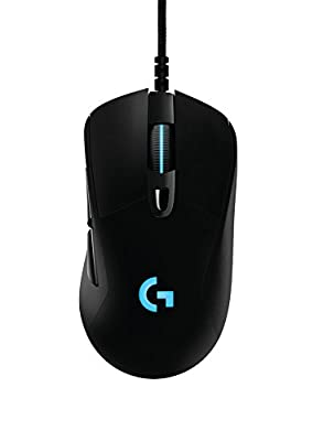 Logitech G403 Prodigy Wired Gaming Mouse, 12,000 DPI, RGB, Lightweight, 6 Programmable Buttons, On-Board Memory, Compatible with PC / Mac - Black