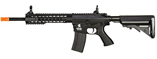 Lancer Tactical AEG M4 Keymod Electric Automatic Airsoft Rifle Gun - Full Metal Gearbox -