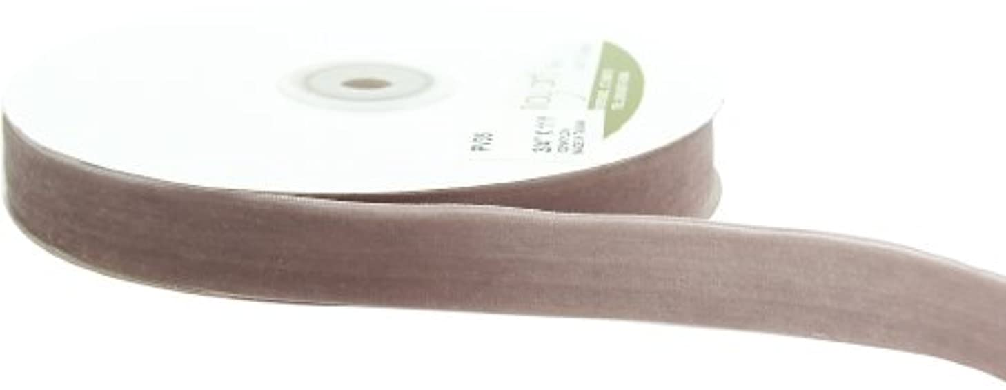May Arts 3/4-Inch Wide Ribbon, Pewter Velvet