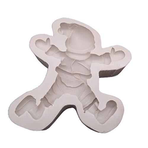 Moule à gâteau en silicone en forme de Père Noël - 15,2 x 14,5 x 4,1 cm