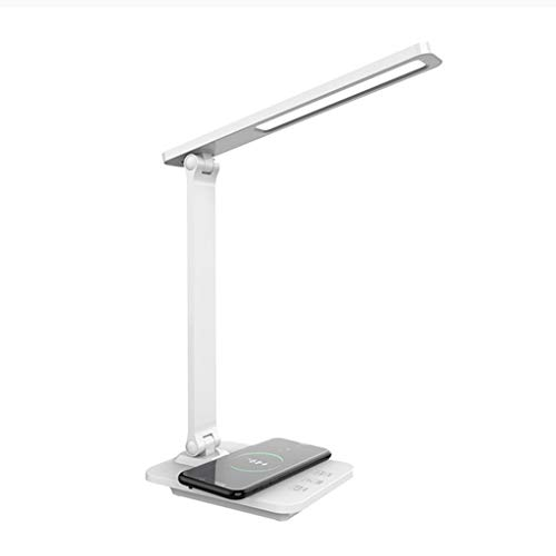 Lámpara de escritorio LED Lámpara de Escritorio LED Con Puerto de Carga USB, Lámpara de Mesa Regulable para Cuidar Los Ojos con Luz de Escritorio de 3 Niveles de Brillo Función de Memoria para Estudia