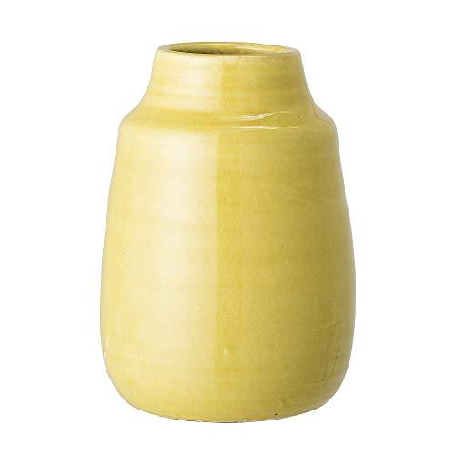 Bloomingville Deko Vase, gelb, Terrakotta