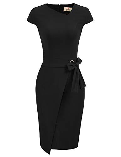 GRACE KARIN Bodycon Kleid schwarz Retro Kleid Weihnachten Festliche Kleider für Damen CL867-1 2XL