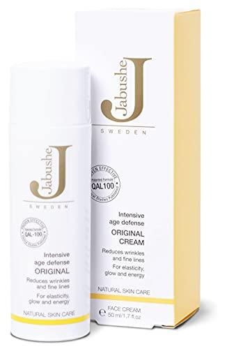 JABUSHE Original Cream I 50 ml I aktive Tagespflege mit QAL-100 für reife Haut I regenerierende Nachtcreme für Elastizität & Strahlkraft I natürliche Hautpflege aus Schweden