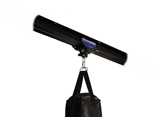 Firstlaw Fitness I-Beam Rolling Mount for Punching Bag & 4 Foot Rail Combo - Blue Rolling Mount - Made in The USA