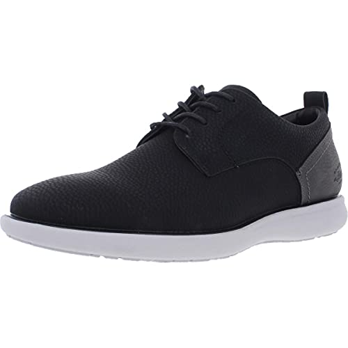 G.H. Bass & Co. Mens Duncan Tumbled WX Casual Oxford Shoe, Charcoal/Black, 11 M