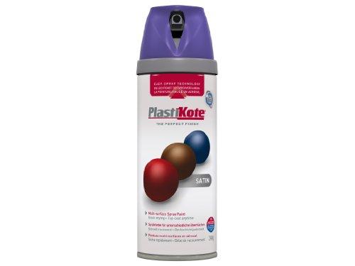 Plasti-kote 22116 400ml Premium Spray Paint - Satin Sumptuous Purple