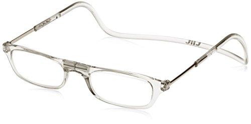 [クリックリーダー] 老眼鏡 Clic Readers メンズ クリア +1.00-(FREEサイズ)