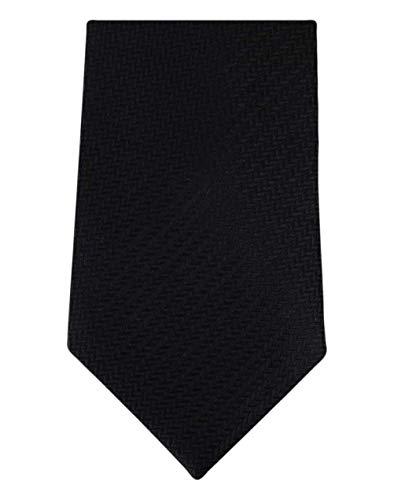 David Van Hagen Noir chevrons cravate de