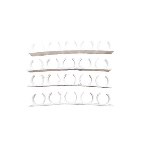 Nicedier Organizador de Especias Pared Estantería de Almacenamiento de Clip de la Abrazadera N Main Puerta del Armario Rack Ganchos de Cocina 4pcs Space Saver/Set