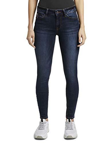 TOM TAILOR Denim Damen Jeanshosen Jona Extra Skinny Jeans Dark Stone wash Denim,33/32