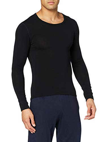 Trigema Herren Langarm Ski/Sport Shirt sous-vêtements, Noir (Schwarz 008), Medium Homme