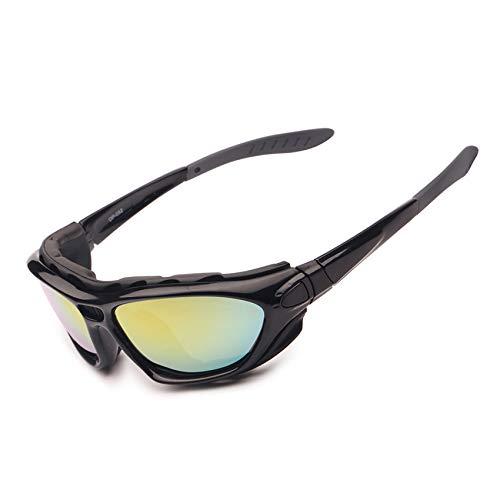 EnzoDate Motorrad - Brille polarisierte brillengläser klar Tag - Nacht - Helm Sonnenbrille auswechselbare TEM (farbige)