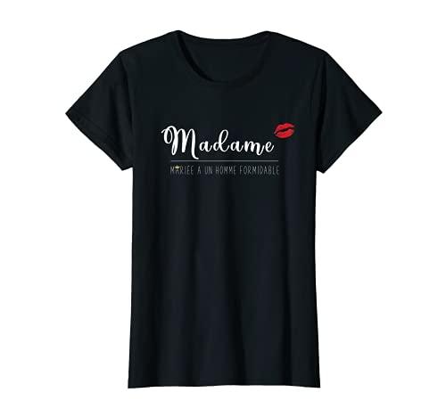 Femme Madame Mariée - Couple amoureux assorti Cadeau Mariage Femme T-Shirt