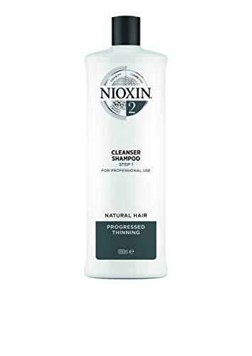 Nioxin System 2 Cleanser Shampoo - Innovatives 3-Stufen System - Für naturbelassenes, sichtbar dünner werdendes Haar