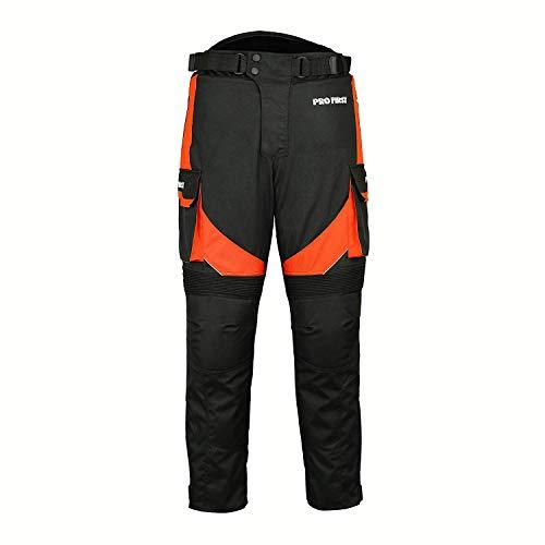 Motorfiets/Motorbike Big Pocket Waterdicht Verwijderbare Cordura Textiel Broek voor Heren Dames Jongens Oranje Waist 38 - Leg 32 ORANJE