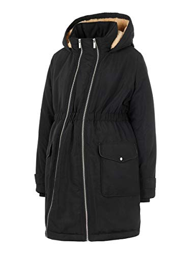 MAMALICIOUS Mama Licious Female Umstands-Parka Wattierter 2-in-1 MBlack