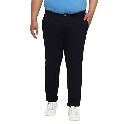 Urbano Plus Men's Navy Blue Cotton Regular Fit Casual Chino Pants Stretch (pluschinop-navy-44)