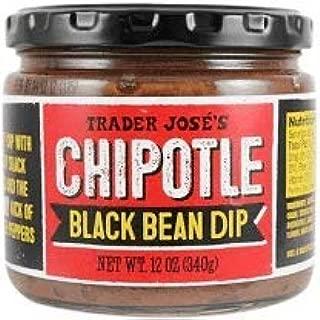 Trader Joe's Chipotle Black Bean Dip 12 oz (Case of 3)