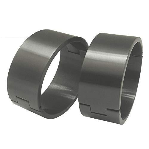 polished Brushed silver Black stainless steel wrist ankle cuffs lockable bangle slave bracelets-W 40mm polish Black_S (60mm x 50mm)