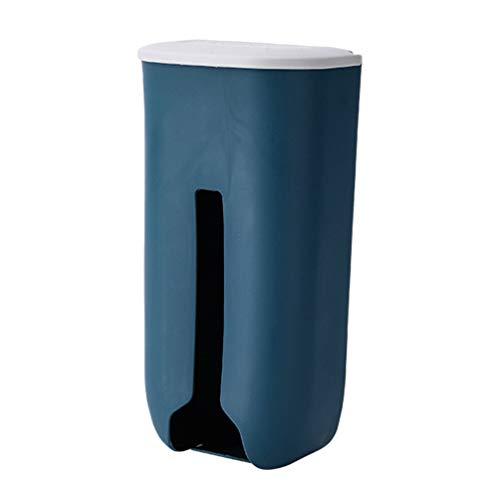 UPKOCH Beutelspender Tütenspender Wand Plastiktüten-Spender aus Kunststoff für Abfall Kleinigkeiten - Dunkblau