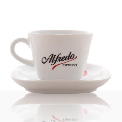 Alfredo Design Milchkaffee-Tasse mit Untertasse 6 Stk, weiß