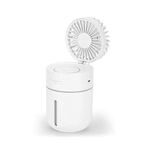 WZHZJ Humidificador del Ventilador pequeño Ventilador inalámbrico Recargable de Gran Capacidad portátil de Escritorio Principal de Silencio Dormitorio portátil Cara Hidratación (Color : B)