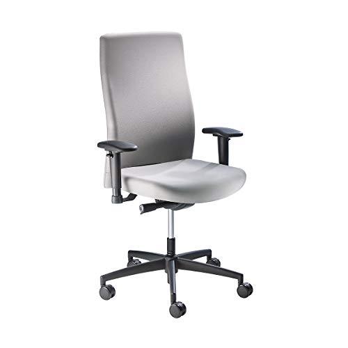 Prosedia Operator-Drehstuhl, Rückenlehnenhöhe 590 mm - Synchronmechanik, Flachsitz mit Knierolle - grau - Arbeitsdrehstuhl Arbeitsdrehstühle Bürodrehstuhl Bürodrehstühle Bürostuhl Bürostühle Drehstuhl Drehstühle Operatordrehstuhl Operatordrehstühle Stuhl