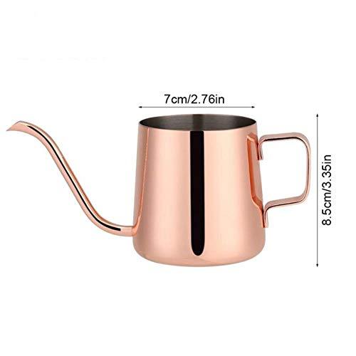RANJN 250 ml / 350 ml roestvrij staal theepot druppelkoffiepot lange uitloop waterkoker kopje thuis keuken theegereedschap