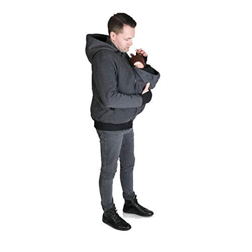 AIBAB Multifunktion Zwei In Eins Papa Känguru Sweatshirt Herbst Und Winter Männerkleidung Baby Schlafsack