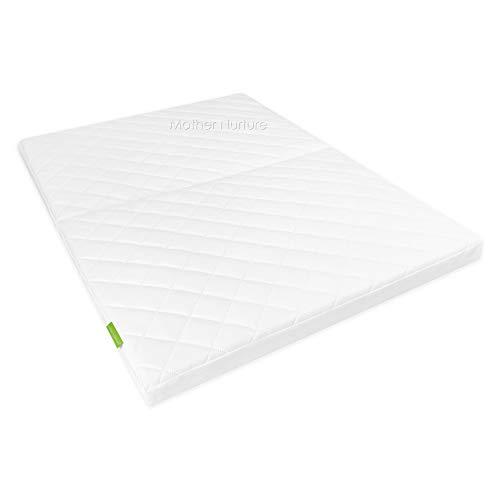 Mother Nurture Classic Foldable Eco Fibre Travel Cot Mattress, White, 95 X 65 X 5 cm