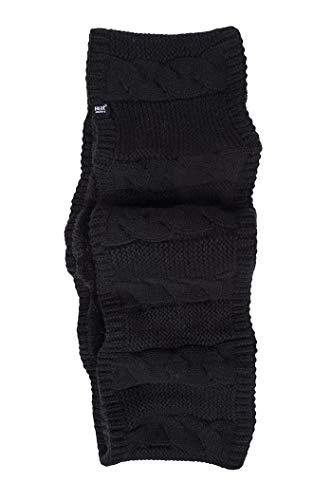 HEAT HOLDERS - Damen Winter Fleece Bunt Strick Grobstrick Loop Schal (One Size, Black (Infinity))