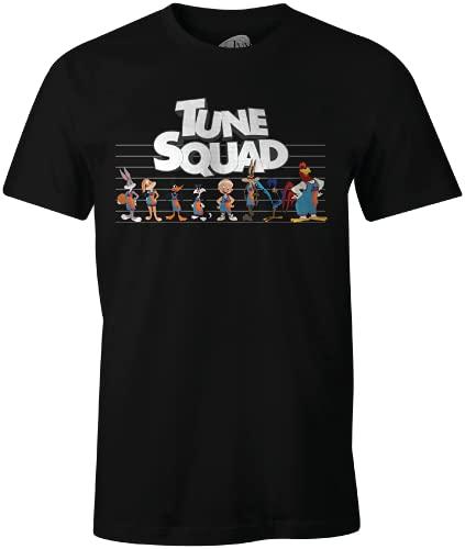 Looney Tunes MESPJ2MTS013 Camiseta, Negro, L para Hombre