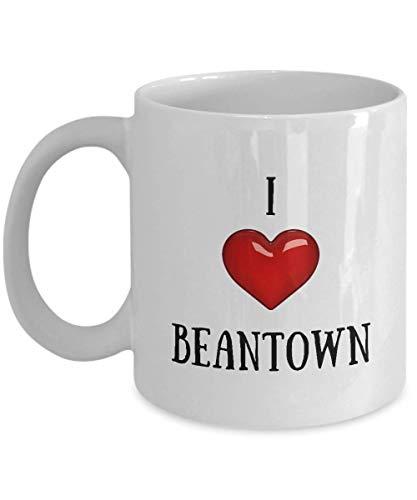 XCNGG Taza de café de la taza de la taza del cielo estrellado de la pendiente de la taza de cerámica I Love Mattoon Mug - American States, Cities and Towns Coffee Mugs - Novelty Heart Ceramic Cup
