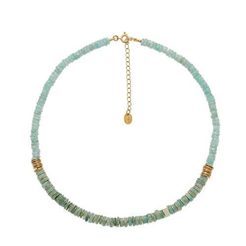 A Surfer Necklace with Fine Stones (Amazonite)