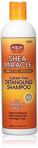 African Pride Shea Butter Miracle Detangling Shampoo, 1er Pack (1 x 355 ml)