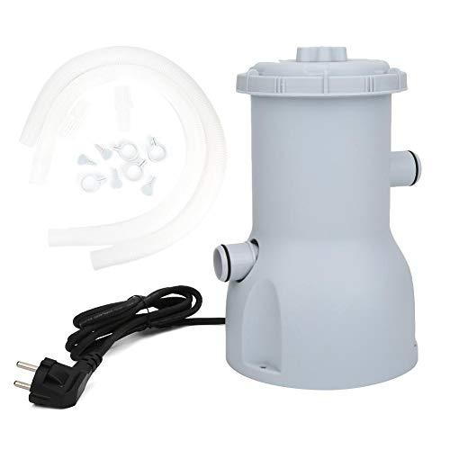 Alomejor1 Bomba de Filtro de Piscina, 220-240V Filtro de Agua eléctrico de...