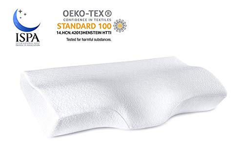 YANXUAN Contour Memory Foam Pillow for Neck Pain Relief, Cervical Pillow Ergonomic Neck Pillow with Washable Pillowcase, 23.6 X 13.8 X 4.3 Inch