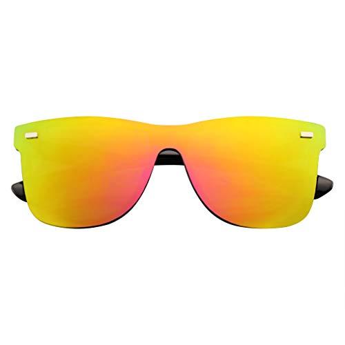 Emblem Eyewear - Gafas De Sol Retro Feflexivas De La Vendimia De La Lente Sin Color Del Espejo De Las Mujeres Para Hombre (Rojo)