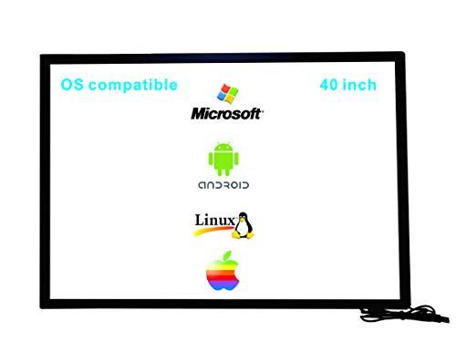 Deyowo - Marco de pantalla táctil infrarroja de 42 pulgadas, pantalla táctil IR, panel de pantalla táctil, controlador libre para pizarra interactiva, pantalla táctil LCD monitor TV