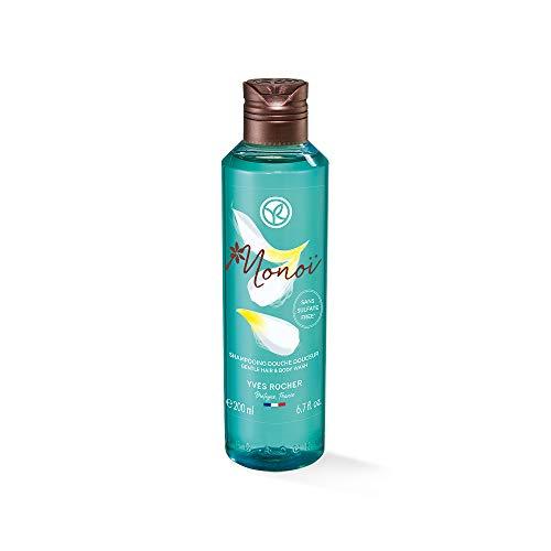 Yves Rocher Monoï Mildes Dusch-Shampoo, Exotische Pflegedusche für Haut und Haar, 1 x Flacon 200 ml