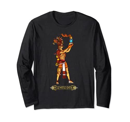 Centeotl Aztec God Mythology Ancient Mayan Civilization Gods Long Sleeve T-Shirt