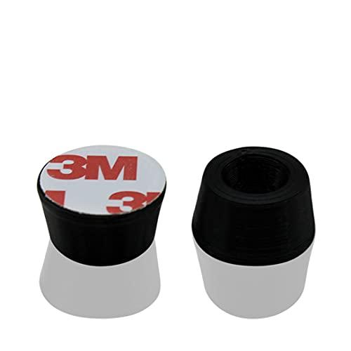 R&R SHOP - Türstopper, schützt wände und oberflächen, klebend und stoßfest - 8er-set aus recycelbarem gummi (Schwarz)