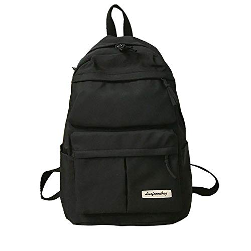 Backpack Bag Backpack Women Waterproof Nylon Students School Bag For Teenage Girls Multi-Pockets Backpack High Capacity Travel Bagpack 29Cmx15Cmx40Cm Black