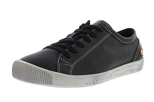 Softinos Damen Sneakers ISLA, Frauen,Low-Top Sneaker,lose Einlage,Halbschuhe,straßenschuhe,Freizeitschuhe,Ladies,Schwarz (Black),37 EU / 4.5 UK